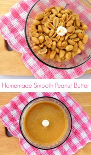 Homemade Peanut Butter #Recipe - this from-scratch version is a cheaper, healthier and more natural version than the stuff you get in the stores. If you love peanut butter and you've never made your own before, you've got to try it! | www.happyhealthymotivated.com
