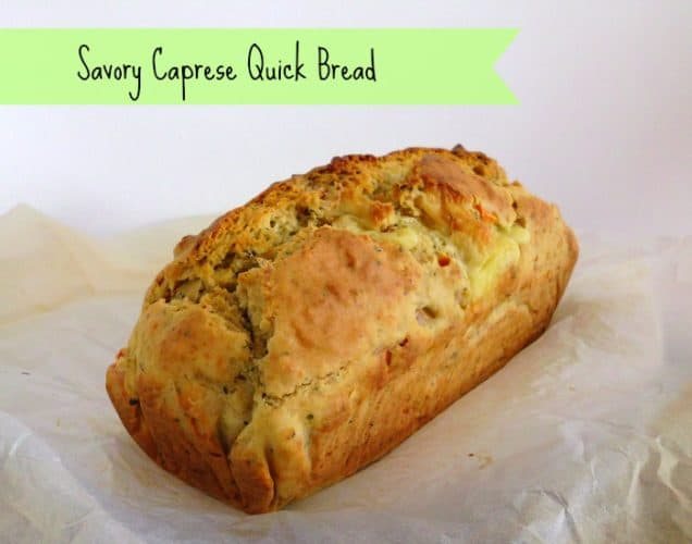 Savory Caprese Quick Bread | www.happyhealthymotivated.com