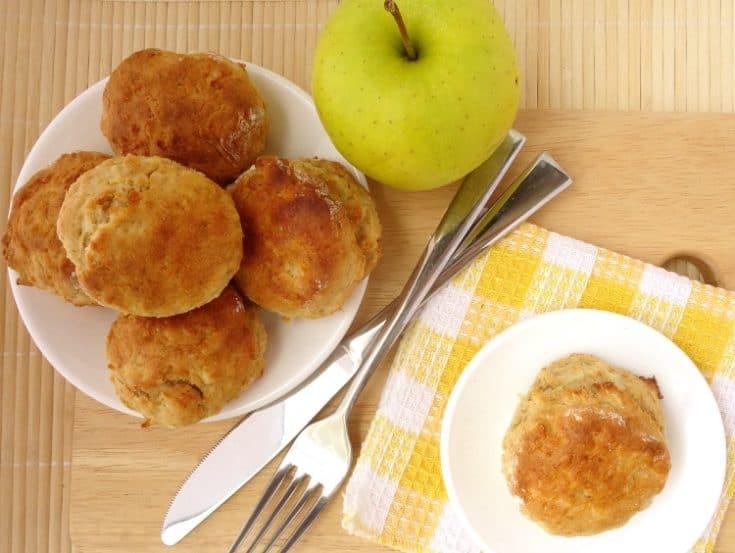Sweet Biscuit Recipe - Caramel Apple Scones
