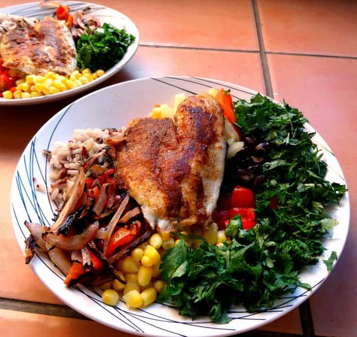 Rice Recipes - Mexican Tilapia Bowls | www.happyhealthymotivated.com