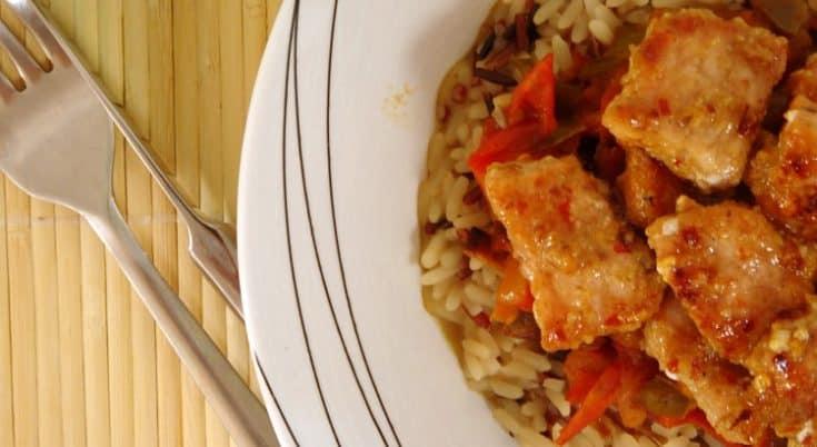 Caribbean Pork with Pineapple Salsa & Wild Rice