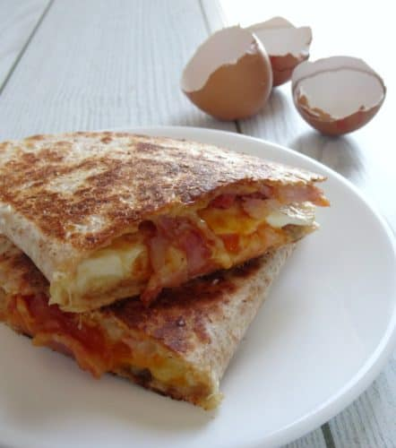 Easy Breakfast Quesadilla Recipe A Really Fast And Simple Loaded With Smoky Bacon
