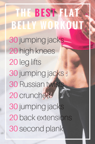 The Best Flat Stomach Workout At Home
