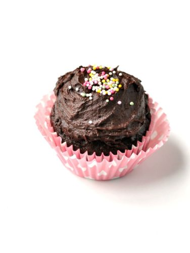Healthy Chocolate Cupcake for One Recipe   this healthy one-bowl single-serving chocolate cake is going to become your new favorite dessert recipe of all time! It's so rich and chocolatey, you'd never know it's a healthy dessert recipe.