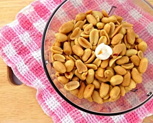 Peanuts - one of the ingredients in this healthy peanut butter recipe