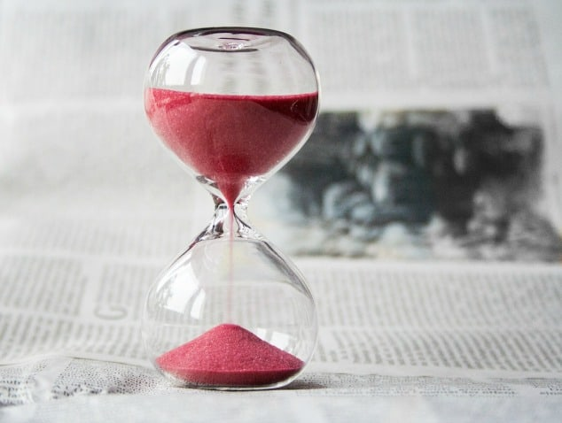 Traditional timer with red sand