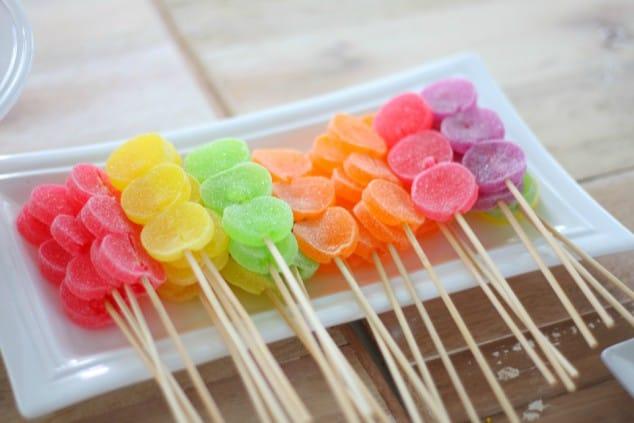 Low FODMAP Snacks - fruity lollipops
