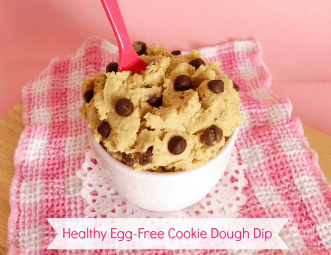 Healthy Egg-Free Cookie Dough Dip