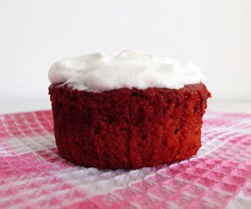 Red Velvet Cupcakes with Whipped Cream Frosting | www.happyhealthymotivated.com