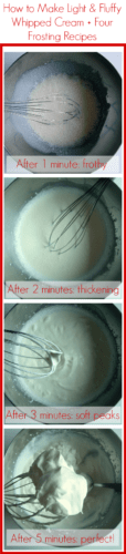 How to make the thickest and fluffiest whipped cream ever! Three amazing tricks plus four whipped cream frosting recipes! | www.happyhealthymotivated.com