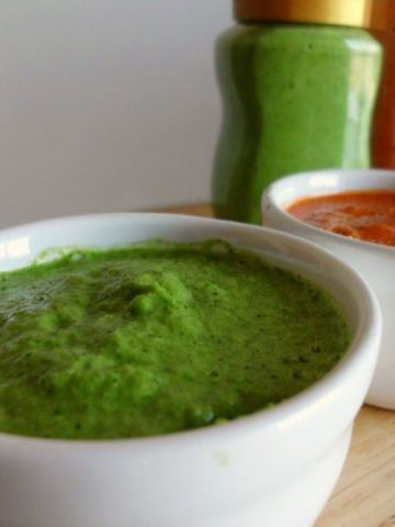 Red and Green Canarian Mojo Sauce Recipe  www.happyhealthymotivated.com