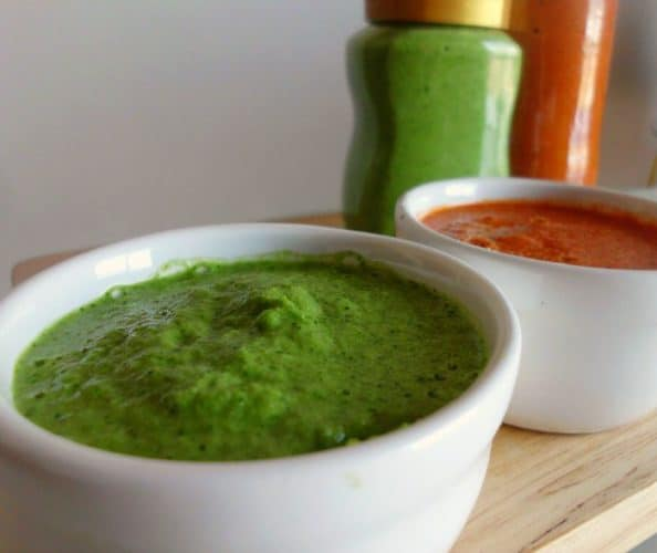 Red and Green Canarian Mojo Sauce Recipe| www.happyhealthymotivated.com