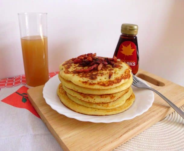 Bacon Buttermilk Pancakes
