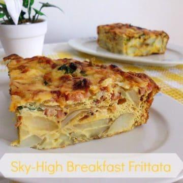 Sky-High Breakfast Frittata   www.happyhealthymotivated.com
