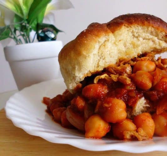 Overflowing Chickpea Sloppy Joes | www.happyhealthymotivated.com