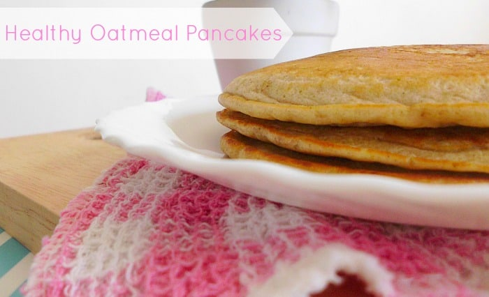 Healthy Oatmeal Pancakes | www.happyhealthymotivated.com