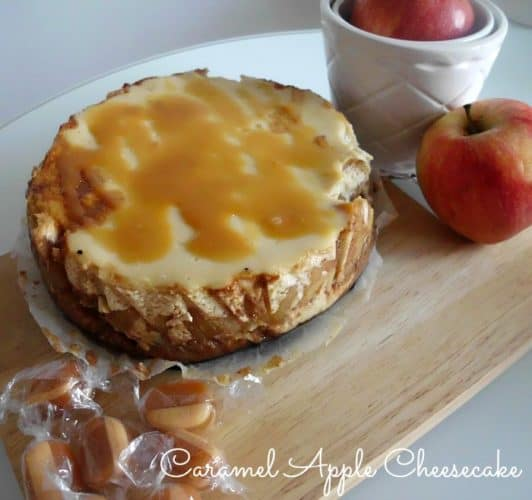 Caramel Apple Cheesecake | www.happyhealthymotivated.com