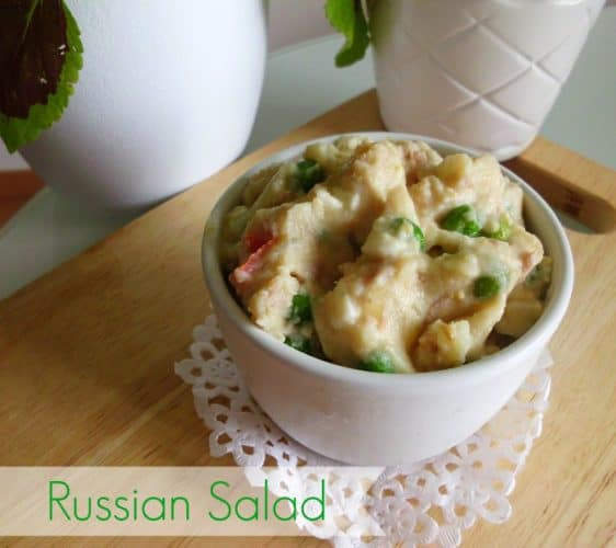 Russian Salad | www.happyhealthymotivated.com