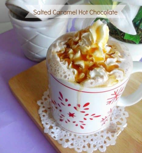 Salted Caramel Hot Chocolate | www.happyhealthymotivated.com