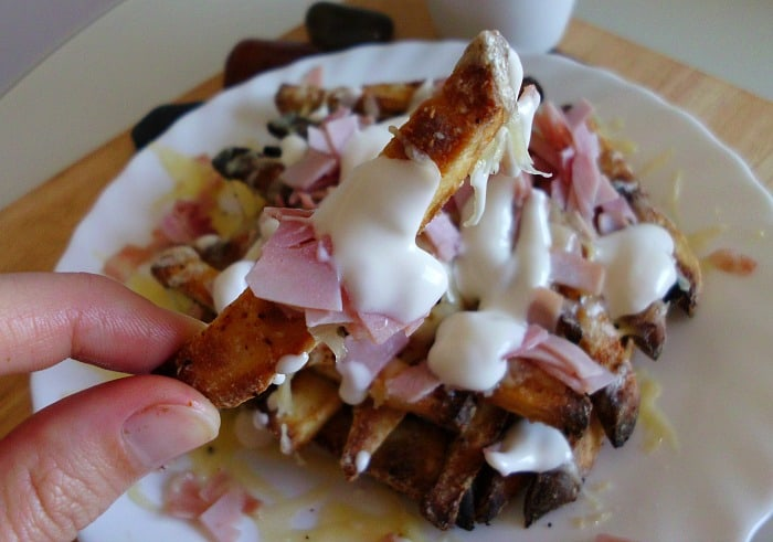 Papas Locas with Sweet Poato Fries | www.happyhealthymotivated.com