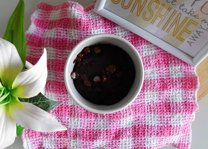 Skinny Mug Brownie for One   www.happyhealthymotivated.com