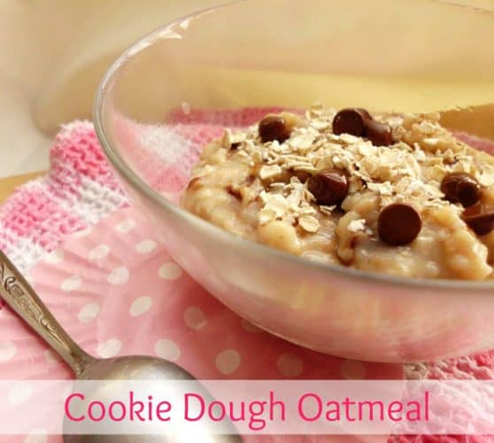 Cookie Dough Oatmeal | www.happyhealthymotivated.com