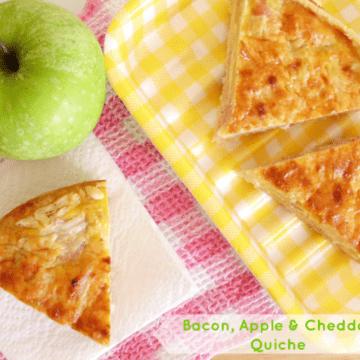 Bacon, Apple & Cheddar Quiche   www.happyhealthymotivated.com