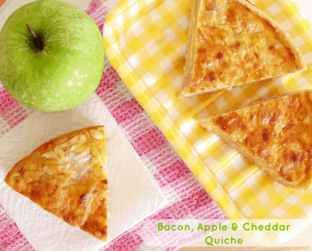 Bacon, Apple & Cheddar Quiche | www.happyhealthymotivated.com