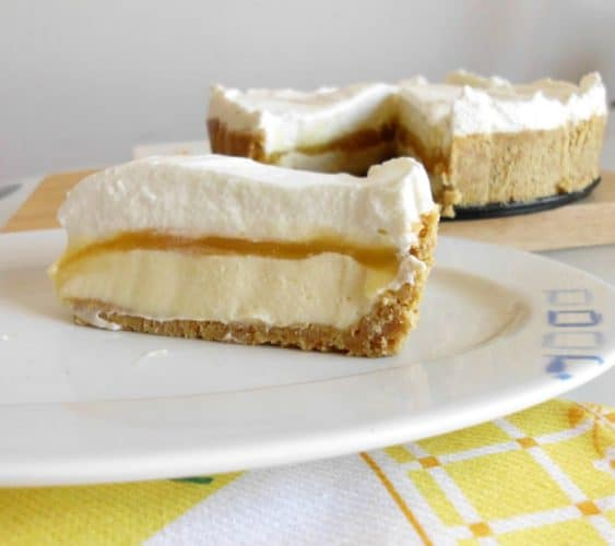 Creamy Lemon Layer Pie | www.happyhealthymotivated.com