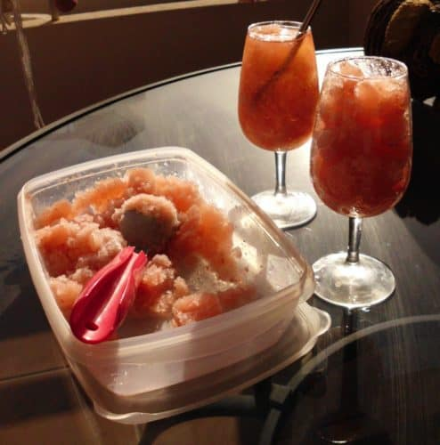 Strawberry White Wine Slushie   www.happyhealthymotivated.com