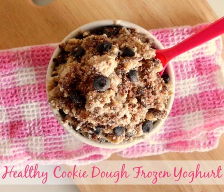 Healthy Cookie Dough Frozen Yoghurt