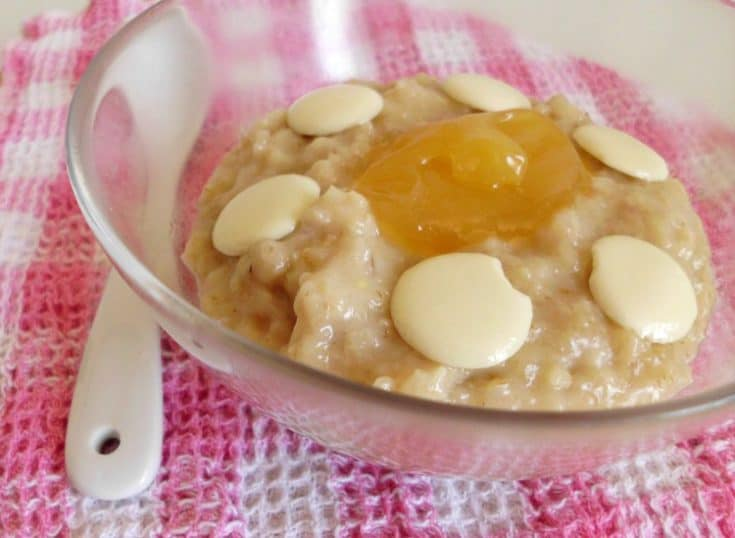 Lemon & White Chocolate Oatmeal
