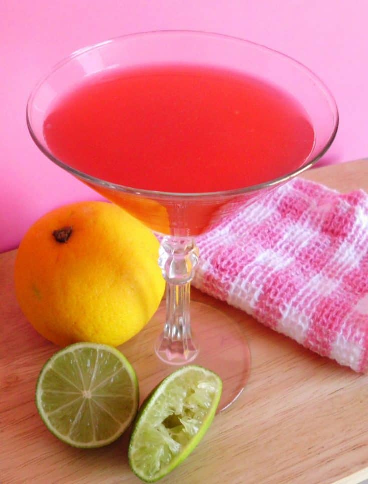 Pretty in Pink Cocktail | www.happyhealthymotivated.com