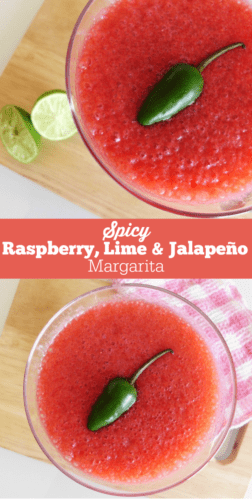 Spicy Raspberry, Lime & Jalapeno Margarita Recipe. I made these cocktails last year for a Cinco de Mayo party and they were amazing!! Definitely going to make them again this year!