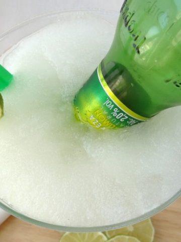 Frozen Lime Beergarita | www.happyhealthymotivated.com