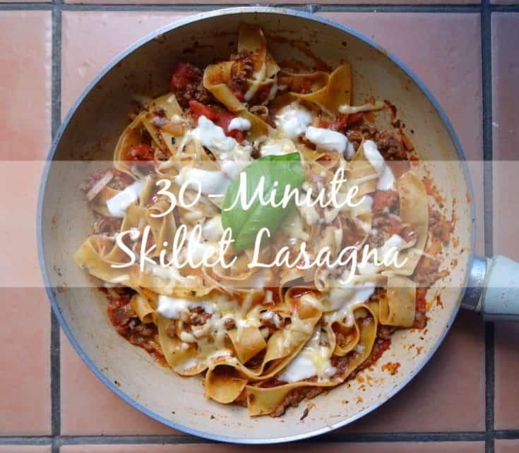 30-Minute Skillet Lasagne Recipe | www.happyhealthymotivated.com