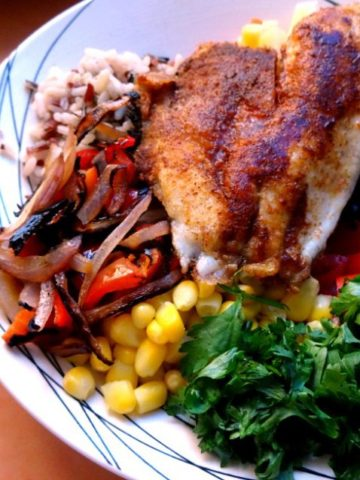 Rice Recipes - Mexican Tilapia Bowls   www.happyhealthymotivated.com