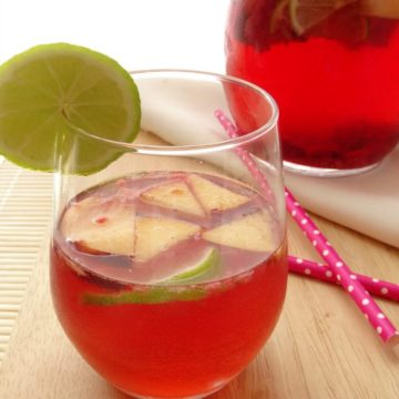 Cocktail Recipes - Rose Sangria   www.happyhealthymotivated.com