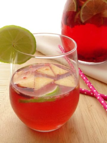 Cocktail Recipes - Rose Sangria | www.happyhealthymotivated.com
