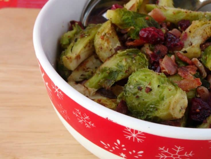 Brussels Sprouts with Bacon & Cranberries | www.happyhealthymotivated.com