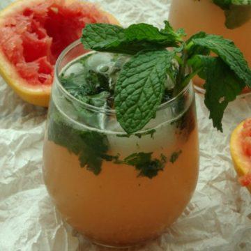 Sweet Grapefruit Mojito Cocktail Recipe | www.happyhealthymotivated.com