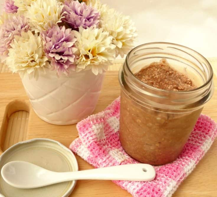 Healthy Breakfast Recipes - Double Chocolate Cheesecake Overnight Oats | www.happyhealthymotivated.com