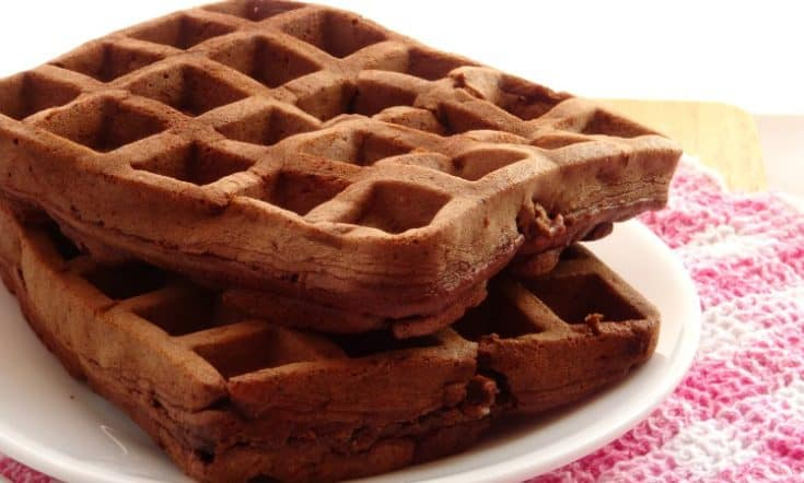 Healthy Chocolate Cake Waffles Recipe | www.happyhealthymotivated.com