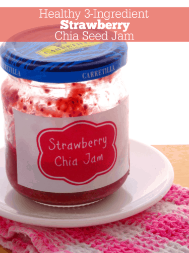 Healthy 3-Ingredient Strawberry Chia Seed Jam Recipe. A fast, simple and healthy no-fail fruity jam recipe you'll love! It's made from only 3 ingredients and really does work every time. I'll never buy jam from the store ever again!