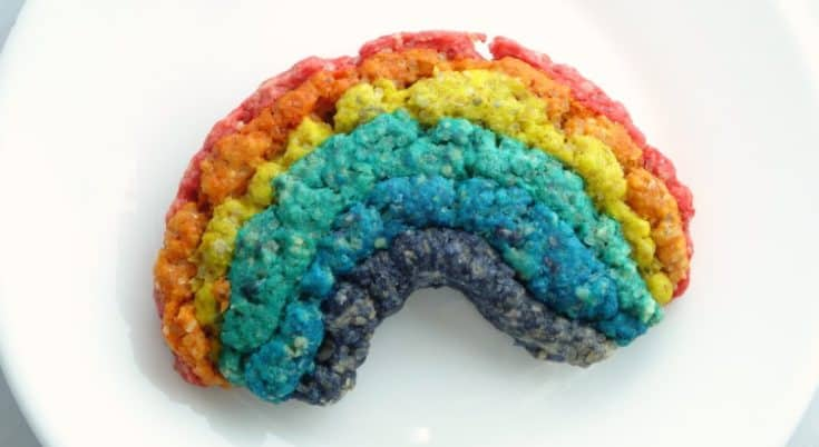 This rainbow oatmeal cookie recipe is made lighter with whole wheat flour and oats. Super cute for St Patrick's Day and not as hard to make as it looks! | www.happyhealthymotivated.com