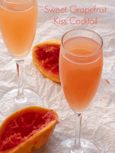 Cocktail recipes sweet grapefruit kiss for Fruity mixed drinks recipes