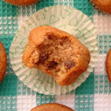 Irish Soda Bread Muffins Recipe - healthy whole wheat muffins loaded with juicy raisins. Perfect snack or breakfast for St Patrick's Day! | www.happyhealthymotivated.com