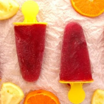 Sangria Popsicles recipe - all the deliciousness of sangria with all the fun of a popsicle. Super easy to make - just two ingredients! | www.happyhealthymotivated.com