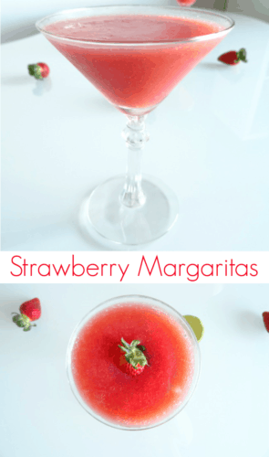 Strawberry Margarita Recipe - a sweet and fruity tequila cocktail that's a lot simpler to make than you might think. Bring on Cinco de Mayo! | www.happyhealthymotivated.com