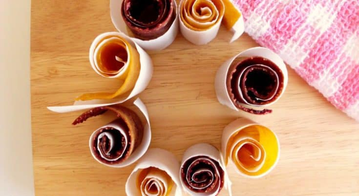 Healthy Mango & Raspberry Fruity Rollups
